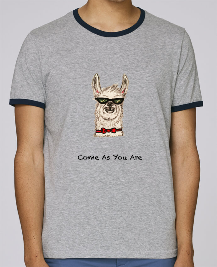 Camiseta Bordes Contrastados Hombre Stanley Holds COME AS YOU ARE pour femme por La Paloma
