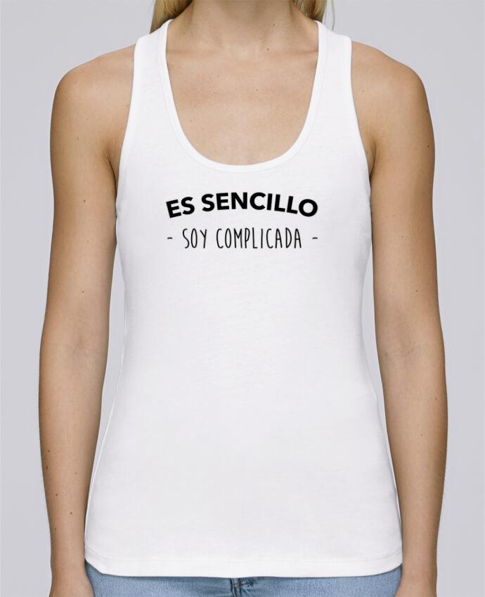 Camiseta de tirantes algodón orgánico mujer Stella Dreams Es sencillo soy complicada por tunetoo en coton Bio