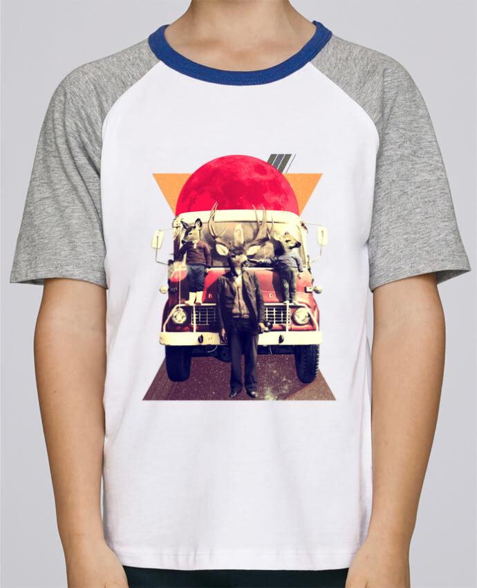 Camiseta de manga ranglan corta en contraste Stanley Mini Jump Short Sleeve El camion por ali_gulec