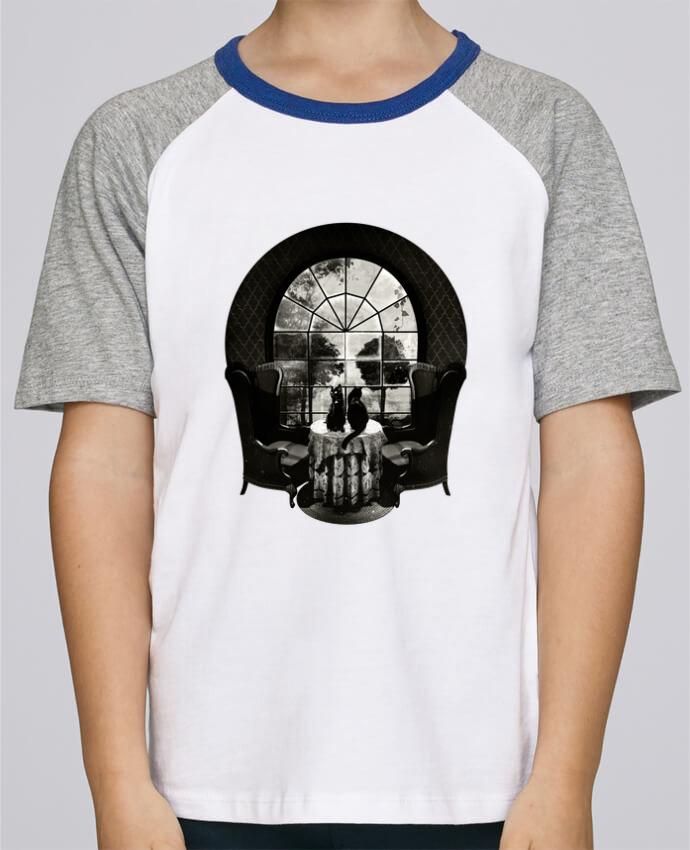 Camiseta de manga ranglan corta en contraste Stanley Mini Jump Short Sleeve Room skull por ali_gulec