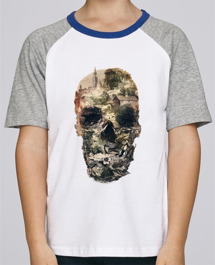Camiseta de manga ranglan corta en contraste Stanley Mini Jump Short Sleeve Skull town por ali_gulec