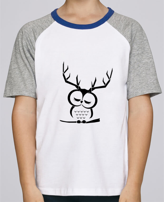 Camiseta de manga ranglan corta en contraste Stanley Mini Jump Short Sleeve Hibou cerf por Ikare