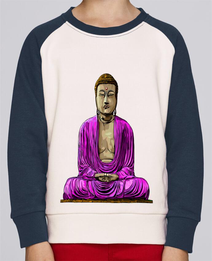 Sudadera Cuello Redondo Niño Stanley Mini Contraste Bouddha Pop por Numartis