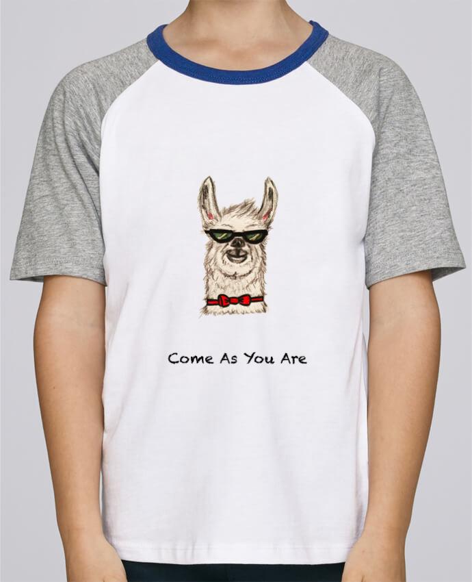 Camiseta de manga ranglan corta en contraste Stanley Mini Jump Short Sleeve COME AS YOU ARE por La Paloma