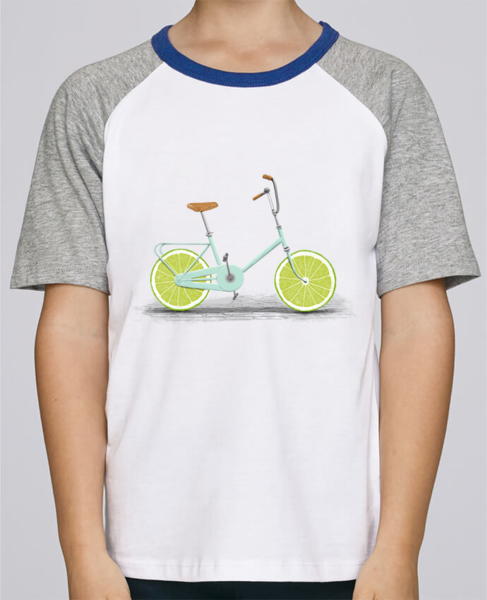 Camiseta de manga ranglan corta en contraste Stanley Mini Jump Short Sleeve Acid por Florent Bodart