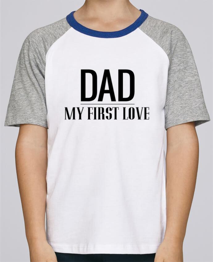 Camiseta de manga ranglan corta en contraste Stanley Mini Jump Short Sleeve Dad my first love por tunetoo