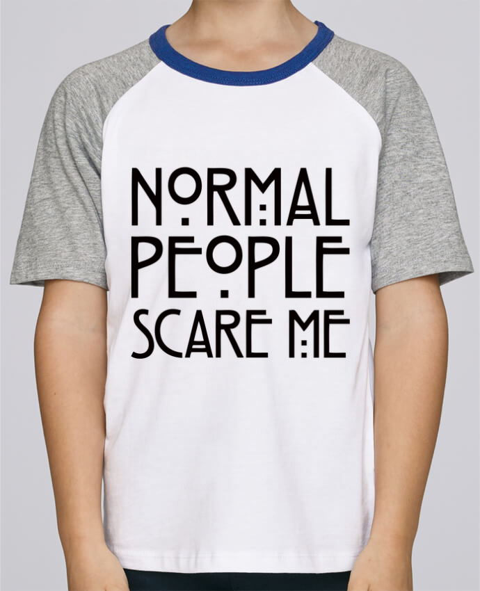 Camiseta de manga ranglan corta en contraste Stanley Mini Jump Short Sleeve Normal People Scare Me por Freeyourshirt.com