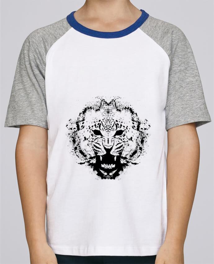 Camiseta de manga ranglan corta en contraste Stanley Mini Jump Short Sleeve leopord por Graff4Art