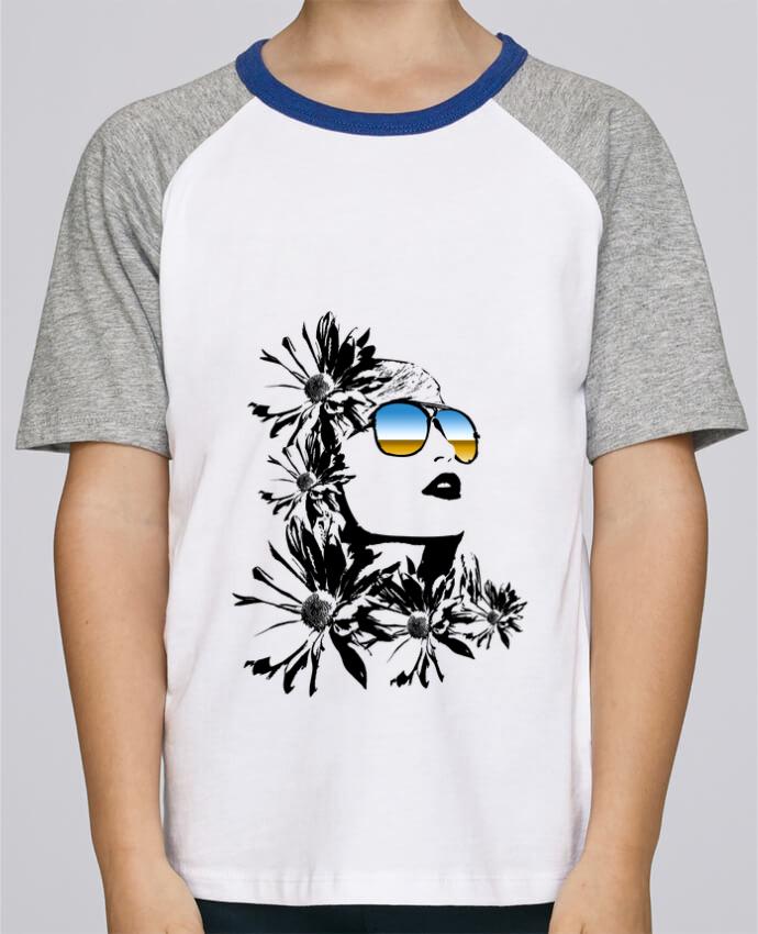 Camiseta de manga ranglan corta en contraste Stanley Mini Jump Short Sleeve women por Graff4Art