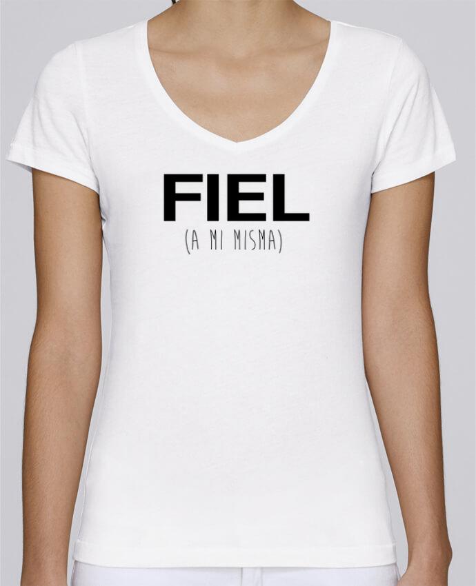 Camiseta Mujer Cuello en V Stella Chooses FIEL (a misma) por tunetoo