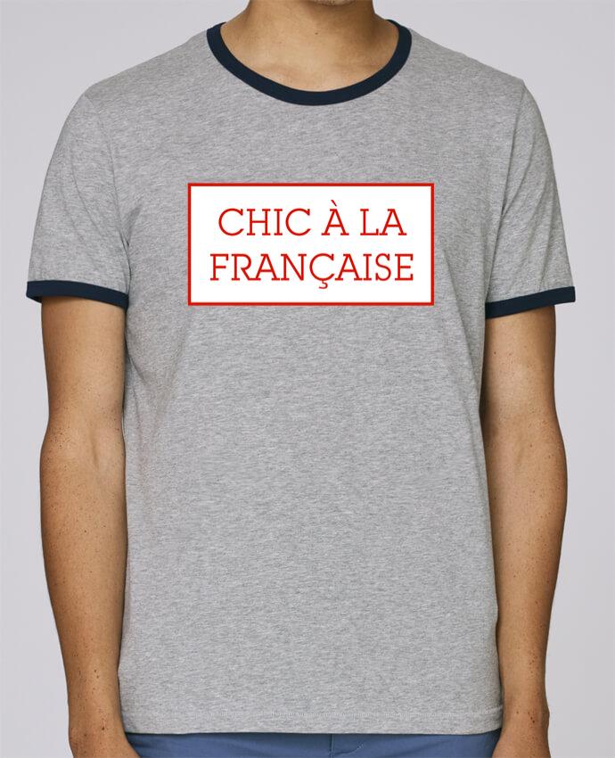 Camiseta Bordes Contrastados Hombre Stanley Holds Chic à la française pour femme por tunetoo