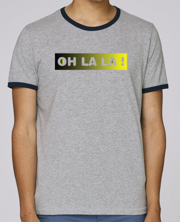 Camiseta Bordes Contrastados Hombre Stanley Holds Oh la la ! pour femme por tunetoo