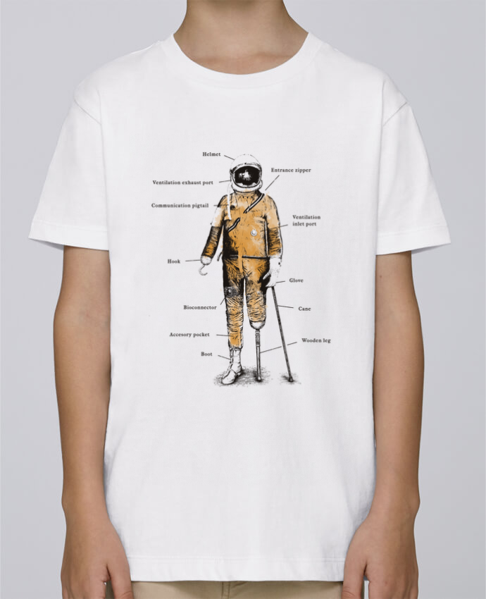 Camiseta de cuello redondo Stanley Mini Paint Astropirate with text por Florent Bodart