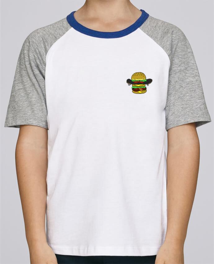 Camiseta de manga ranglan corta en contraste Stanley Mini Jump Short Sleeve Skateburger por Salade