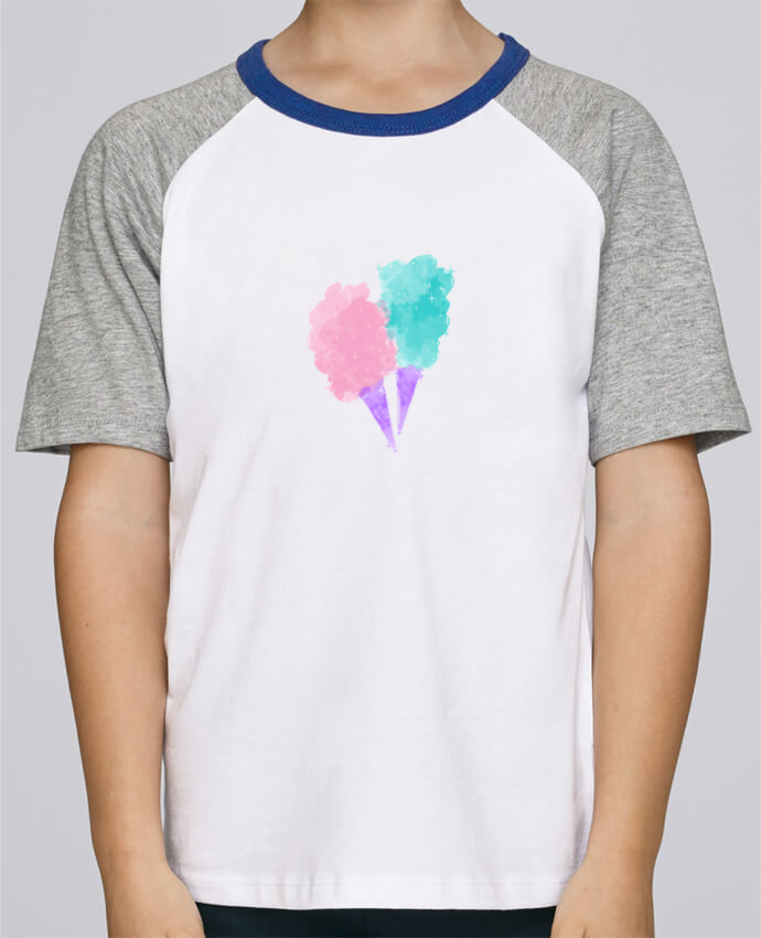 Camiseta de manga ranglan corta en contraste Stanley Mini Jump Short Sleeve Watercolor Cotton Candy por PinkGlitter