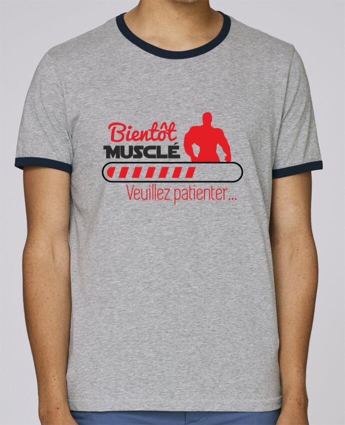 Camiseta Bordes Contrastados Hombre Stanley Holds Bientôt musclé, musculation, muscu, humour pour femme por Benichan
