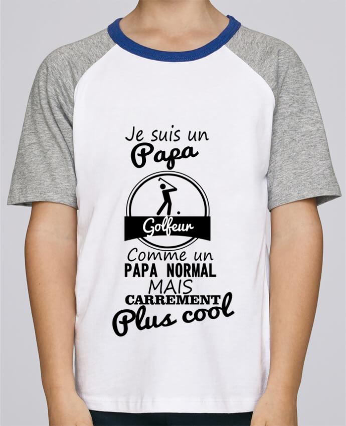 Camiseta de manga ranglan corta en contraste Stanley Mini Jump Short Sleeve Je suis un papa golfeur comme un papa normal mais carrément plus cool por Be