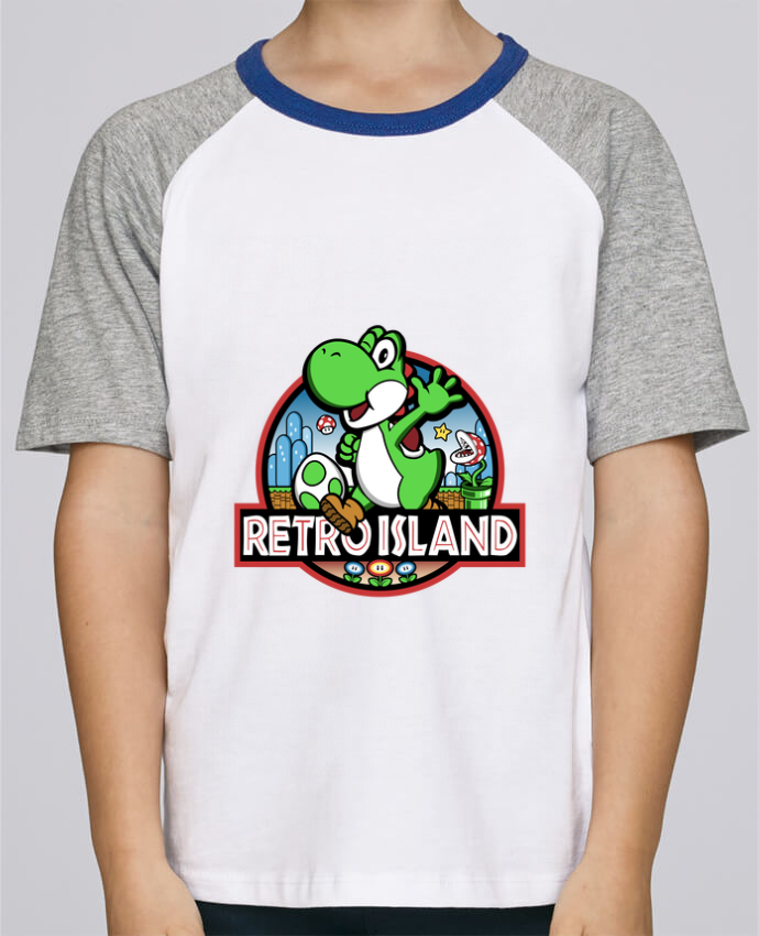 Camiseta de manga ranglan corta en contraste Stanley Mini Jump Short Sleeve Retro Park por Kempo24
