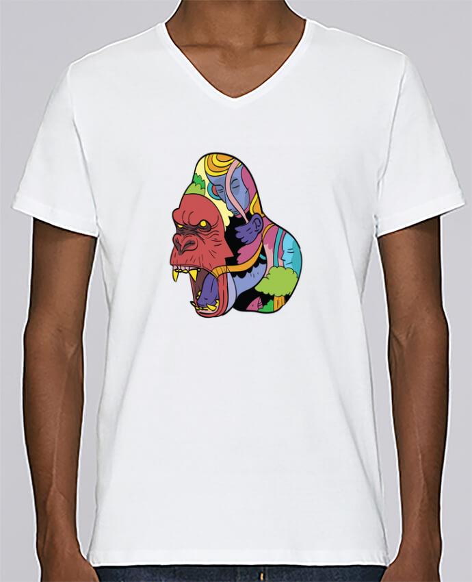 Camiseta Hombre Cuello en V Stanley Relaxes wrathofnature por Arya Mularama