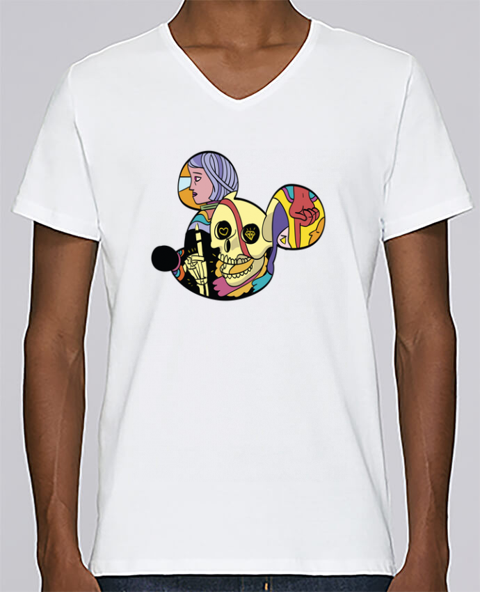 Camiseta Hombre Cuello en V Stanley Relaxes wonderland por Arya Mularama