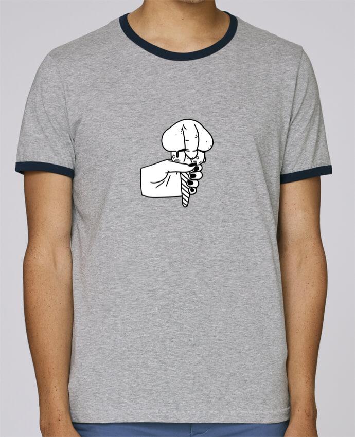 Camiseta Bordes Contrastados Hombre Stanley Holds Ice cream pour femme por tattooanshort