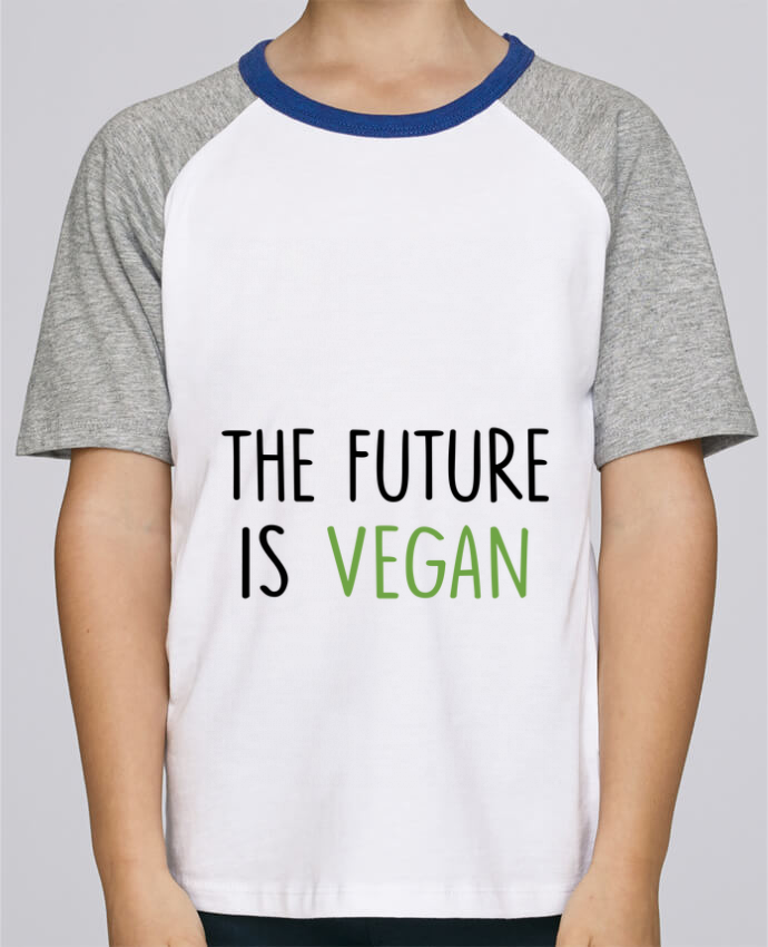 Camiseta de manga ranglan corta en contraste Stanley Mini Jump Short Sleeve The future is vegan por Bichette