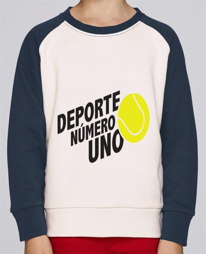 Sudadera Cuello Redondo Niño Stanley Mini Contraste Deporte Número Uno Tennis por tunetoo