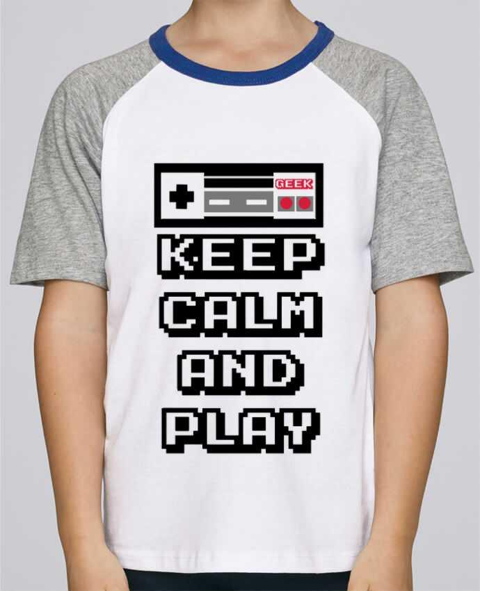 Camiseta de manga ranglan corta en contraste Stanley Mini Jump Short Sleeve KEEP CALM AND PLAY por SG LXXXIII