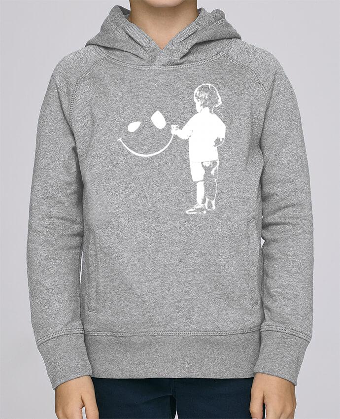 Sudadera de manga ranglan con capucha y bolsillo con vivo Niño Stanley Mini Base enfant por Graff4Art