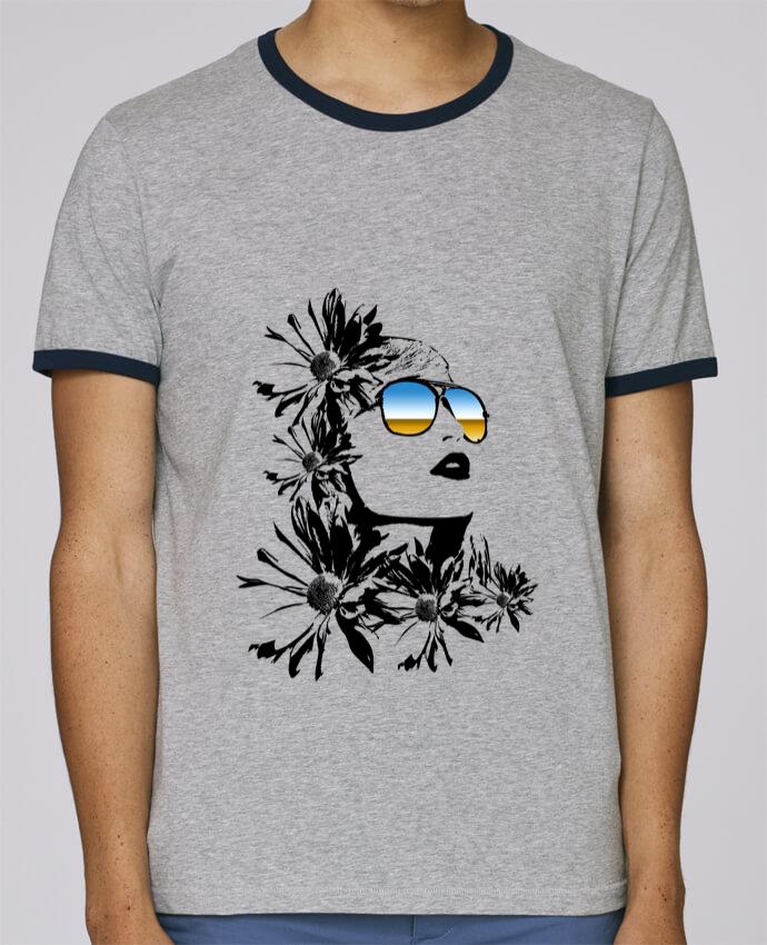 Camiseta Bordes Contrastados Hombre Stanley Holds women pour femme por Graff4Art