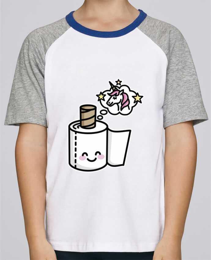 Camiseta de manga ranglan corta en contraste Stanley Mini Jump Short Sleeve Unicorn Toilet Paper por LaundryFactory