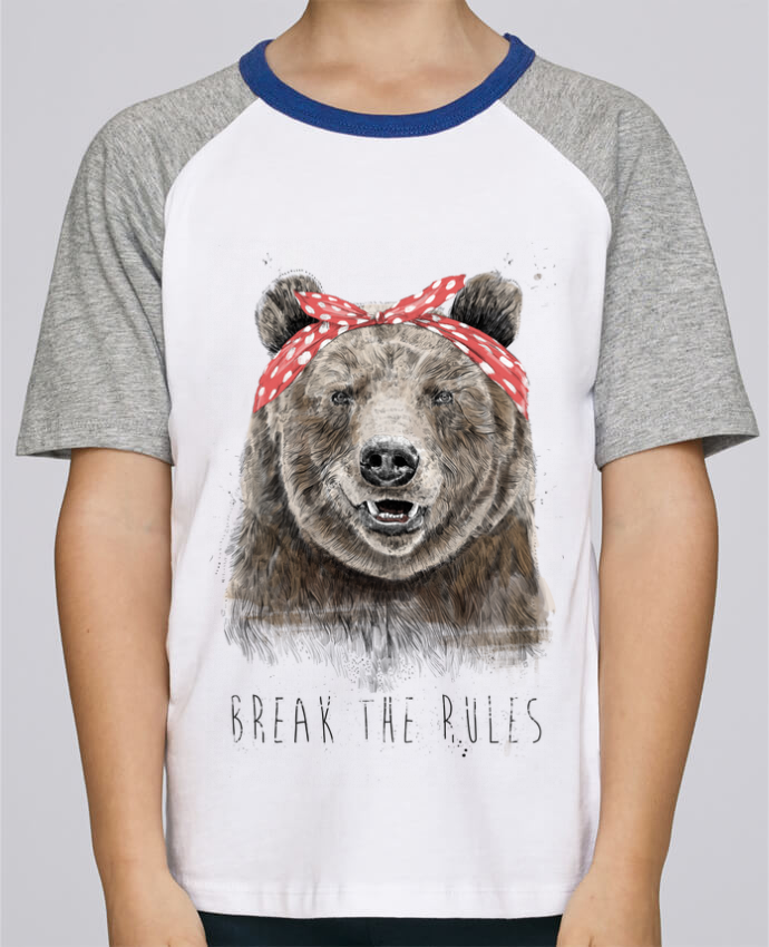 Camiseta de manga ranglan corta en contraste Stanley Mini Jump Short Sleeve Break the rules II por Balàzs Solti