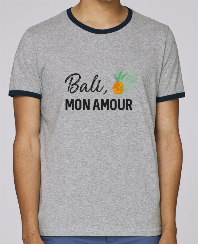 Camiseta Bordes Contrastados Hombre Stanley Holds Bali, mon amour pour femme por IDÉ'IN