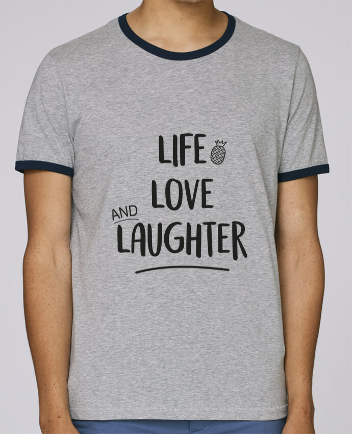 Camiseta Bordes Contrastados Hombre Stanley Holds Life, love and laughter... pour femme por IDÉ'IN