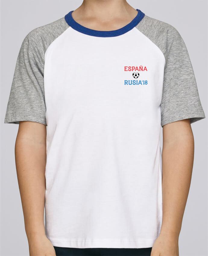 Camiseta de manga ranglan corta en contraste Stanley Mini Jump Short Sleeve España Rusia 2018 por tunetoo
