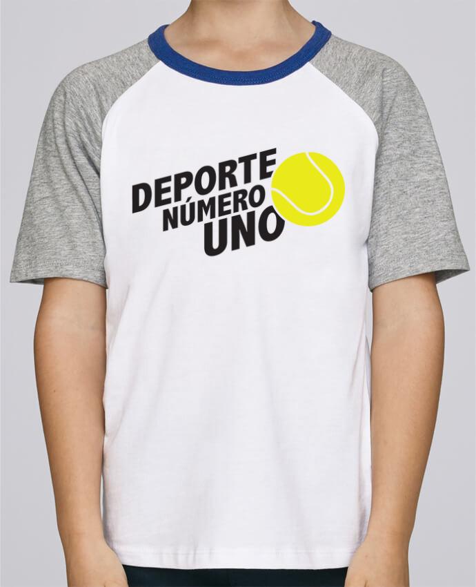 Camiseta de manga ranglan corta en contraste Stanley Mini Jump Short Sleeve Deporte Número Uno Tennis por tunetoo