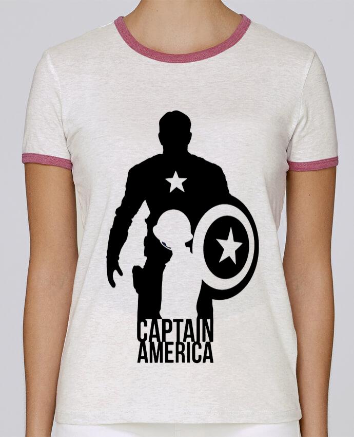 Camiseta Mujer Stella Returns Captain america pour femme por Kazeshini