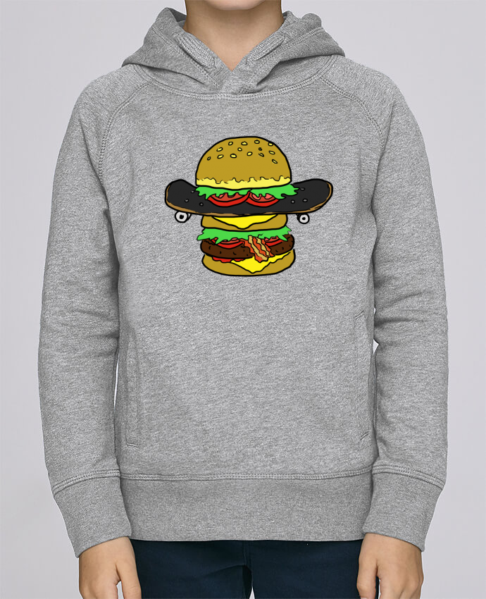 Sudadera de manga ranglan con capucha y bolsillo con vivo Niño Stanley Mini Base Skateburger por Salade