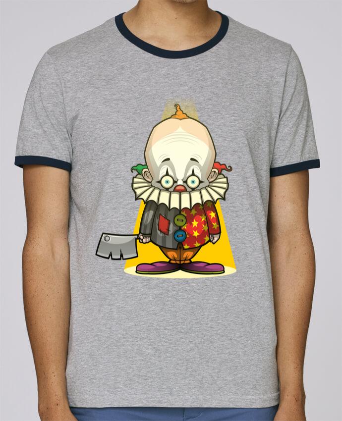 Camiseta Bordes Contrastados Hombre Stanley Holds Choppy Clown pour femme por SirCostas