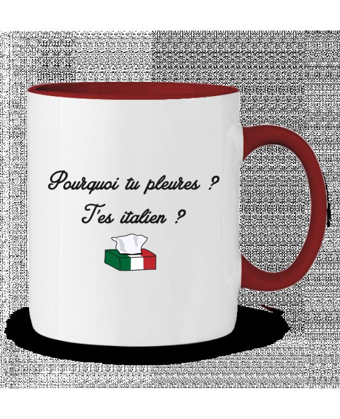 Taza Cerámica Bicolor Italie Coupe du monde Troll tunetoo