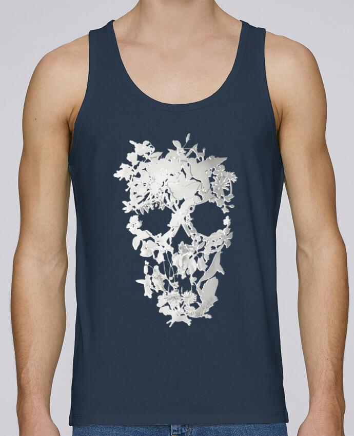 Camiseta de tirantes algodón orgánico hombre Stanley Runs Simple Skull por ali_gulec 100% coton bio