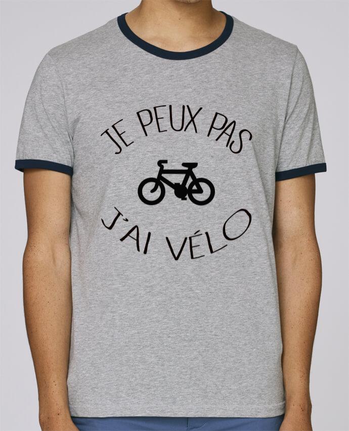 Camiseta Bordes Contrastados Hombre Stanley Holds Je peux pas j'ai vélo pour femme por Freeyourshirt.com