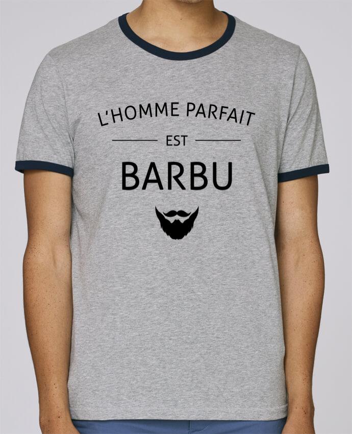 Camiseta Bordes Contrastados Hombre Stanley Holds L'homme porfait est barbu pour femme por LPMDL