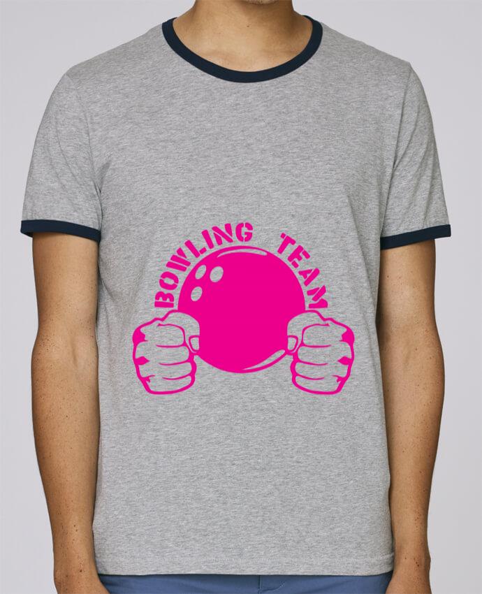 Camiseta Bordes Contrastados Hombre Stanley Holds bowling team poing fermer logo club pour femme por Achille