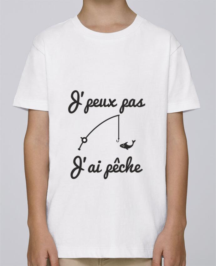 Camiseta de cuello redondo Stanley Mini Paint J'peux pas j'ai pêche,tee shirt pécheur,pêcheur por Benichan