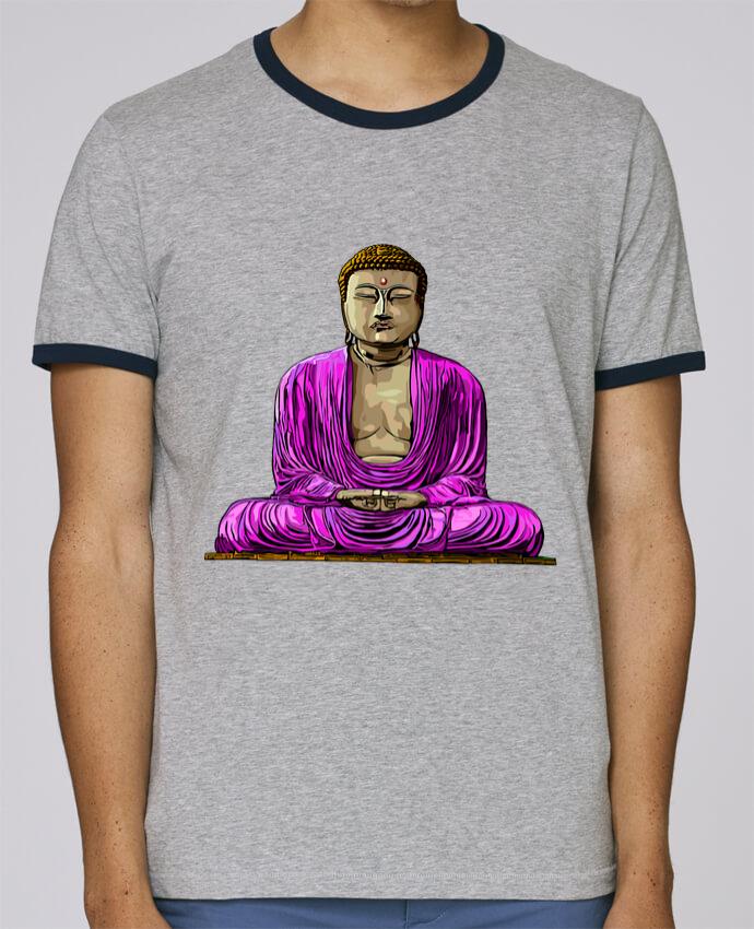 Camiseta Bordes Contrastados Hombre Stanley Holds Bouddha Pop pour femme por Numartis