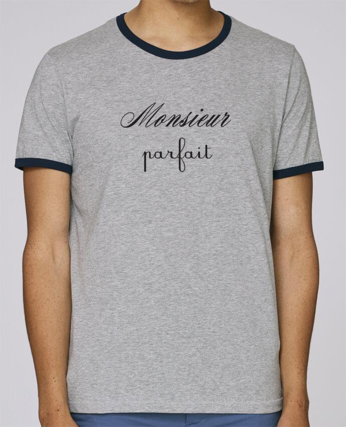 Camiseta Bordes Contrastados Hombre Stanley Holds Monsieur porfait pour femme por Les Caprices de Filles
