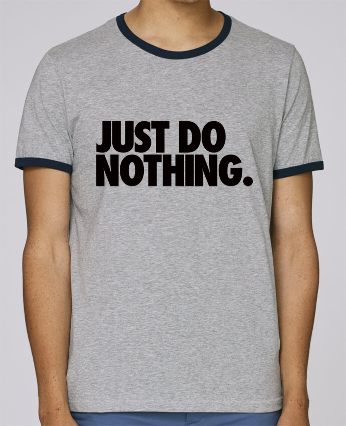 Camiseta Bordes Contrastados Hombre Stanley Holds Just Do Nothing pour femme por Freeyourshirt.com