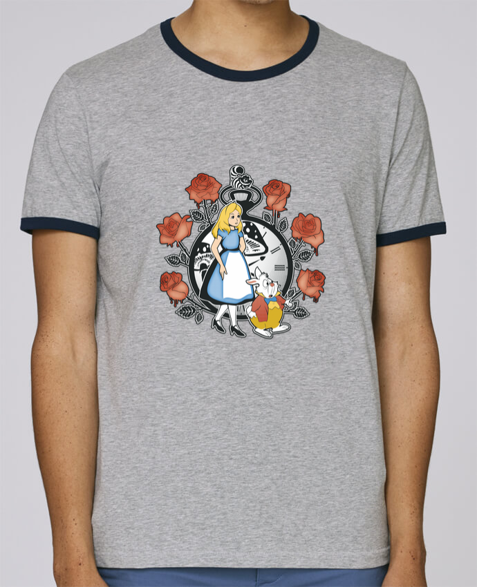 Camiseta Bordes Contrastados Hombre Stanley Holds Time for Wonderland pour femme por Kempo24