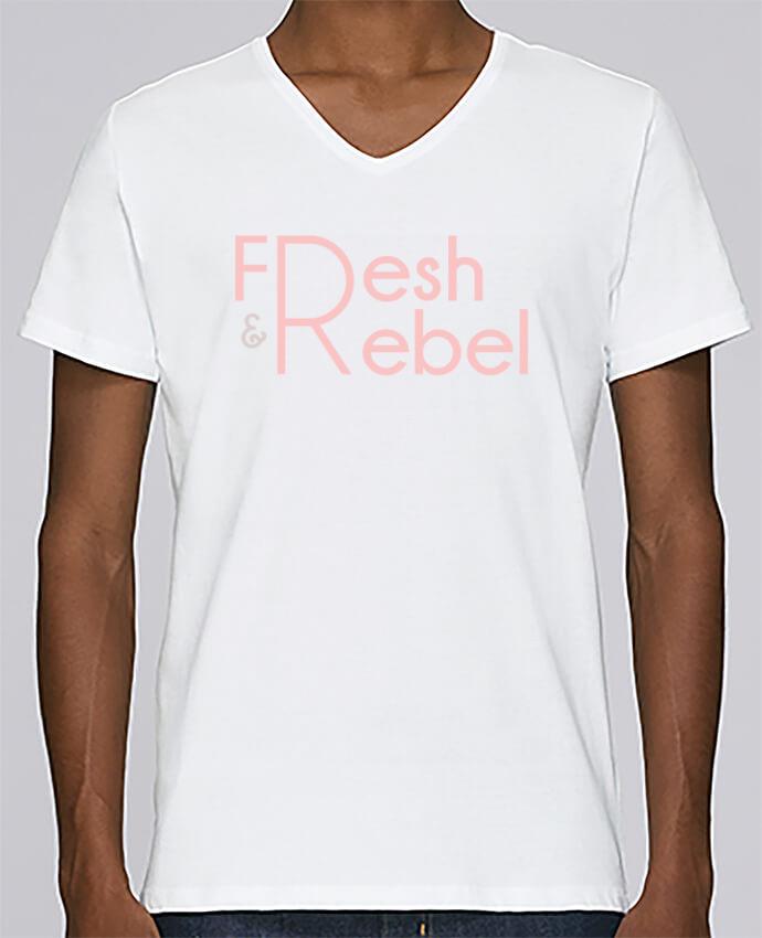 Camiseta Hombre Cuello en V Stanley Relaxes Fresh and Rebel por tunetoo